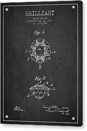 Brilliant Patent From 1919 - Charcoal Acrylic Print