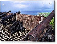 Brimstone Hill Fortress Canons Acrylic Print by Thomas R Fletcher