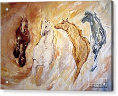 Bringers Of The Dawn Section Of Mural Acrylic Print