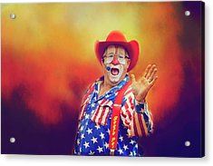Acrylic Print featuring the photograph Bringing Fun To The Rodeo Greek Ellick Jr.  by Toni Hopper