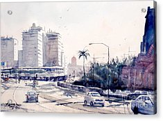 Brisbane Cityscape Acrylic Print by Sof Georgiou