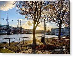Acrylic Print featuring the photograph Bristol Harbour by Colin Rayner
