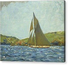 Acrylic Print featuring the painting Britannia by Henry Scott Tuke