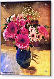 Brithday Wish Bouquet Acrylic Print by MaryLee Parker