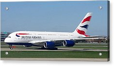 British Airways Airbus A380 Acrylic Print