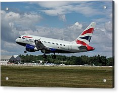 Acrylic Print featuring the photograph British Airways Airbus A318-112 G-eunb by Tim Beach
