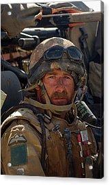 British Army Fighting The Taliban In Helman Droviens 2006 3 Para Acrylic Print