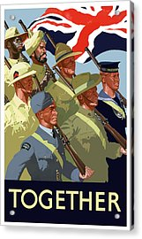 British Empire Soldiers Together Acrylic Print by War Is Hell Store