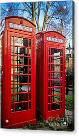 British Phonebooths Acrylic Print by Inge Johnsson