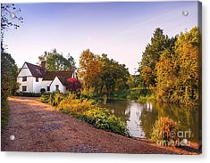 British Village Acrylic Print by Svetlana Sewell