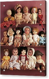 Brittany And Antique Dolls Acrylic Print