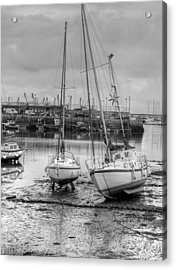 Brixham Harbour  Acrylic Print by Mike Lester