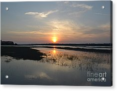 Acrylic Print featuring the photograph Broad Creek Sunset by Carol  Bradley