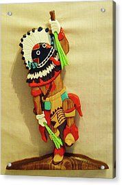 Broad Faced Kachina Acrylic Print by Russell Ellingsworth