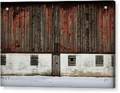 Acrylic Print featuring the photograph Broad Side Of A Barn by Julie Hamilton