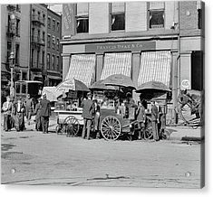 Broad St. Lunch Carts New York Acrylic Print