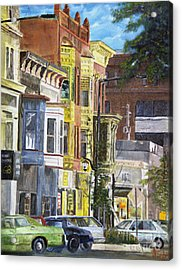 Broad Street Acrylic Print by CJ  Rider