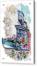 Broadies By The Sea In Staithes Acrylic Print