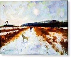 Broadland Walk Acrylic Print by Valerie Anne Kelly