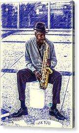 Broadway Blues Acrylic Print by John Haldane