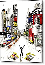 Acrylic Print featuring the drawing Broadway Dreamin' by Marilyn Smith