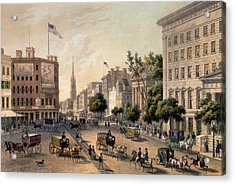 Broadway In The Nineteenth Century Acrylic Print