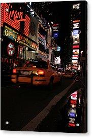 Broadway Lights Acrylic Print by Karol Livote