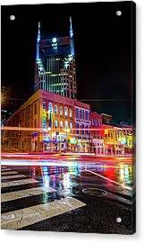 Broadway Lights - Nashville Tennessee Skyline Acrylic Print