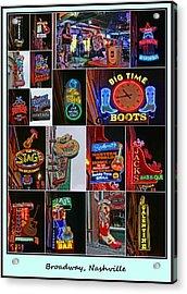 Broadway, Nashville - Collage # 2 Acrylic Print