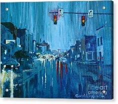 Broadway Rain Acrylic Print