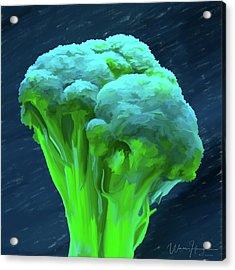 Broccoli 01 Acrylic Print by Wally Hampton
