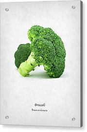 Broccoli Acrylic Print by Mark Rogan