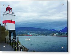 Brockton Point Lighthouse In Stanley Park Acrylic Print by Art Spectrum
