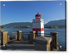 Brockton Point Lighthouse In Vancouver Bc Acrylic Print by David Gn