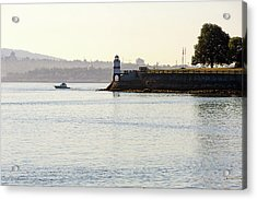 Brockton Point Lighthouse On Peninsula At Stanley Park Acrylic Print by David Gn