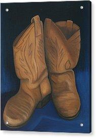 Broke In Acrylic Print by Stephen Degan