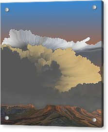 Acrylic Print featuring the digital art Brokeback Hills by Kerry Beverly