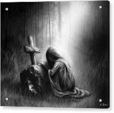 Broken And Contrite Heart Acrylic Print by Ronald Barba