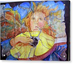 Acrylic Print featuring the painting Broken Angel by P Maure Bausch