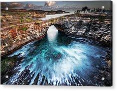 Acrylic Print featuring the photograph Broken Beach, Bali by Pradeep Raja Prints