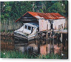 Broken Boat Acrylic Print