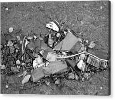 Broken Bottle Acrylic Print by Luke Cain
