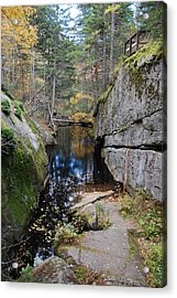 Broken Acrylic Print by Clay Peters Photograhy