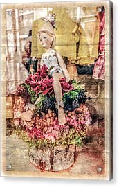 Acrylic Print featuring the photograph Broken Doll In The Window by Melinda Ledsome