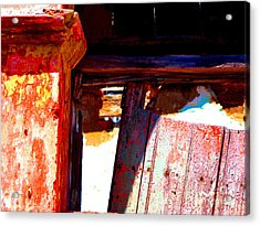 Broken Door By Michael Fitzpatrick Acrylic Print by Mexicolors Art Photography
