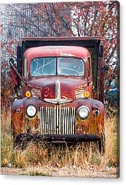 Broken Down Old Abandoned Truck Acrylic Print by Todd Klassy