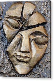 Broken Face Acrylic Print by Rajesh Chopra