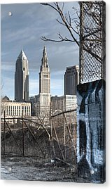 Broken Fences - Portrait Acrylic Print