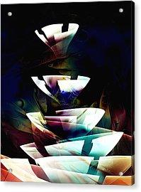 Broken Glass Acrylic Print by Anastasiya Malakhova