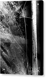 Broken Glass Window Acrylic Print